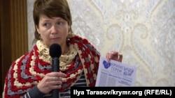 Представитель Украинского культурного центра в Крыму Алена Попова, 23 декабря 2017 года