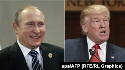 Presidenti rus, Vladimir Putin dhe presidenti i zgjedhur amerikan, Donald Trump
