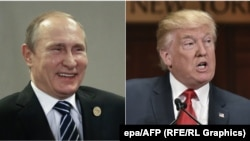 Russian President Vladimir Putin (left) and U.S. President Donald Trump