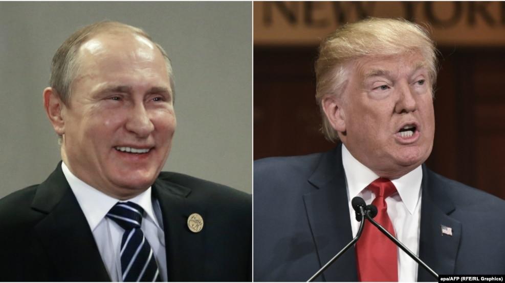 Russian President Vladimir Putin (left) and U.S. President Donald Trump