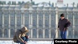 Рыбак на Неве