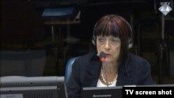 Zorica Subotić u sudnici 1. listopada 2015