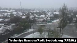 Запоріжжя під снігом, 19 квітня 2017 року