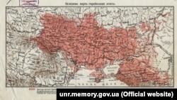 «Оглядова карта українських земель», укладена Степаном Рудницьким (1917 рік)