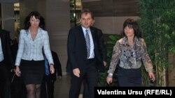 Evgen Șevciuk și Nina Ștanki la Tiraspol
