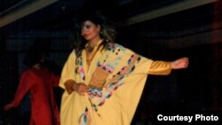 Clothing designed by RFE/RL's Moyad al-Haidari, on display at a fashion show in Iraq.