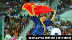 Чемпион Азиатских игр в закрытых помещениях по борьбе Алыш Нурзат Бактияр кызы.