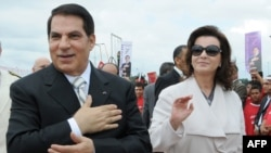 Ousted President Zine el-Abidine ben Ali and his wife, Leila (file photo)