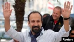 اصغر فرهادی در جشنواره سینمایی کن.