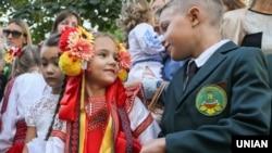 Святкування Дня знань в одній із шкіл Києва