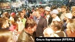 Андрей Ищенко на митинге своих сторонников