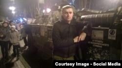 Андрэй Стрыжак на Майдане
