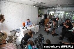 Прэс-канфэрэнцыя Віктара Бабарыкі 11 чэрвеня