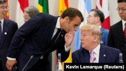 Predsjednik Francuske Emmanuel Macron i predsjednik SAD Donald Trump
