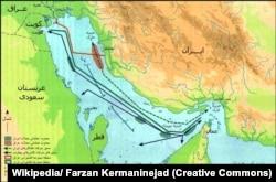نقشه جنگ نفتکشها در خلیج فارس
