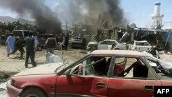 Взрыв на рынке в провинции Пактика, 15 июля 2014