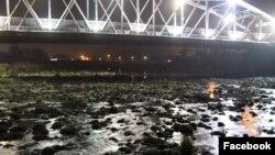 Река Въча през нощта