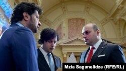 Солидарны с заявлением Мамуки Бахтадзе (справа) столичный мэр Каха Каладзе (слева) и спикер парламента Ираклий Кобахидзе