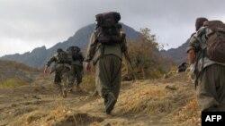 Бойцы Рабочей партии Курдистана, находящиеся в горных районах Ирака.