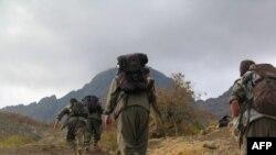 Күрт согушкерлери Түркиядан Иракты көздөй кетип жаткан учур. 8-май, 2013-жыл.