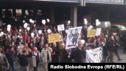 Протест против затворската казна за Кежаровски