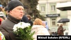 Сергей Митрохин на похоронах Бориса Немцова.