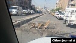 من رعد هاني - اشارة مرورية عجيبة في احد شوارع بغداد