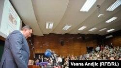 Milorad Dodik za vreme predavanja, foto: Vesna Anđić