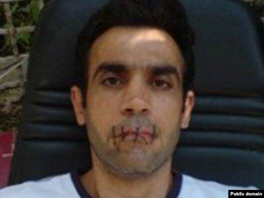 حمید صادقی پس از دوختن دهان خود و  اعتصاب غذا در ماه اوت گذشته پناهندگی گرفت
