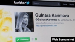 Uzbekistan - Screenshot of a Twitter account @GulnaraKarimova (claiming to be Gulnara Karimova, daughter of president Islam Karimov)