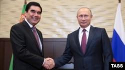 1 ноября 2016 года. Встреча двух диктаторов. Гурбангулы Бердымухамедов и Владимир Путин