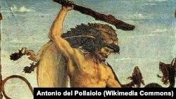 """Антонио дель Поллайоло. """"Геркулес и Гидра"""""""