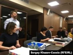 Адвокаты Ксения Карпинская, Дмитрий Харитонов, Ирина Поверенова и Юрий Лысенко