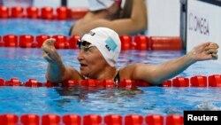 Казахстанская пловчиха Зульфия Габидуллина. Рио-де-Жанейро, 8 сентября 2016 года.