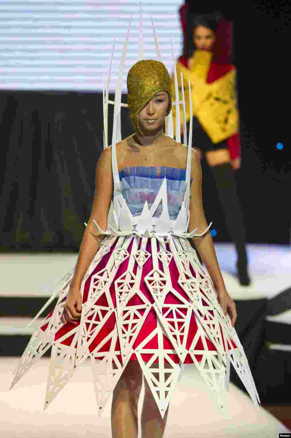 Designer Asem Izetali also let her imagination run riot.