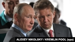 "Владимир Путин и глава ""Газпрома"" Алексей Миллер"