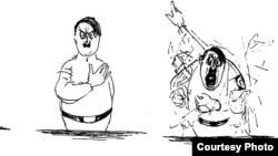 Карикатура на Адольфа Гитлера, 1936 год