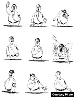 """Оратория. Наброски во время речи Гитлера 7 марта. """"Культуркампен"""", 1936"""