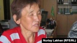 Алатау ауданының тұрғыны Сарахан Нұрымбаева. Алматы, 15 мамыр 2012 жыл.