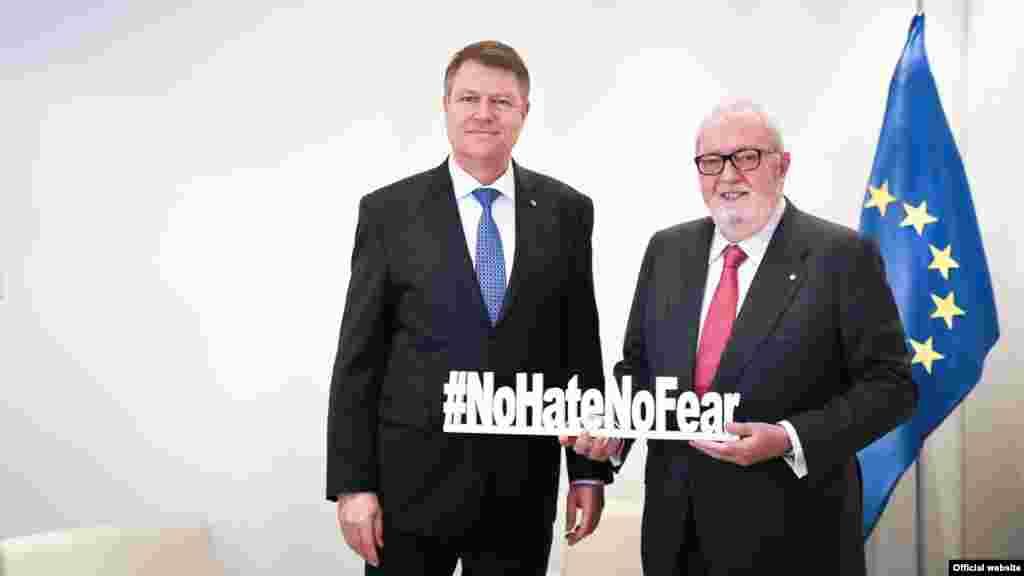 Împreună cu Pedro Agramunt, președintele Consiliului European.