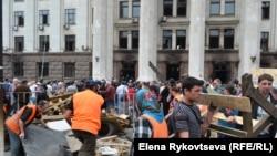 حمله هواداران روسیه به مقر پلیس شهر اودسا در شرق اوکراین