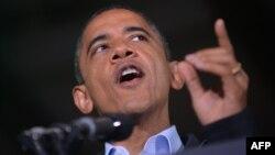 الرئيس الأميركي باراك أوباما يتحدث في هيليارد بولاية أوهايو
