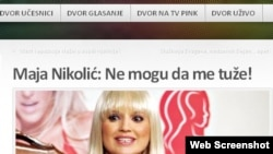 """Snimak sa sajta """"Dvor""""-a sa tekstom o Maji Nikolić"""
