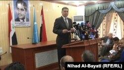 رئيس الجبهة التركمانية أرشد الصالحي يتحدث في كركوك