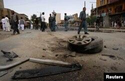 تصویری پس از یک انفجار در کابل