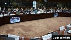 Рада ЭЗ на пасяджэньні 23 траўня 2011 ў Брусэлі, калі былі ўведзеныя чарговыя санкцыі супраць афіцыйнага Менску