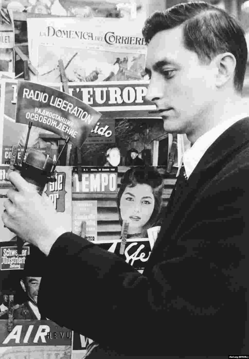 Radio Liberty journalist Valerian Obolensky in the 1950s.