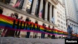 Protest za LGBT prava u Njujorku, novembar 2013.