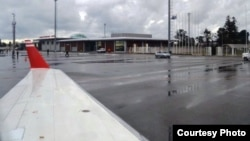 В международном аэропорту Батуми.