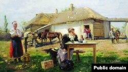 Уладзімір Макоўскі, «Прыезд настаўніцы ў вёску» (1897)